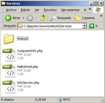 weborb para php